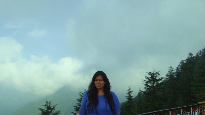 Amidst clouds at Lal Tibba cafe