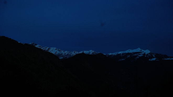 View of the Mountains when we reached Deoria Tal in the evening