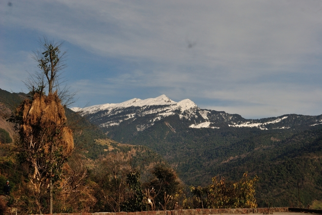 First Glimpse of Snowclad Himalayas from Sari Village, Uttarakhand